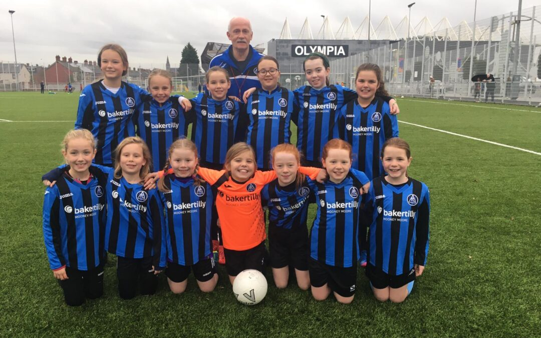Aquinas FC Girls' Football Teams Score Baker Tilly Mooney Moore Sponsorship